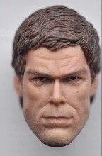 Custom 1/6 Scale Michael C Hall Head Sculpt Dexter Headplay for 12inch action figure toys