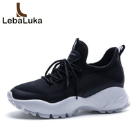 LebaLuka Young Colorful Daily Fashion Real Leather Vulcanized Shoes Women Simple Fitness Vacation Walk Shoes Sneakers Size 34 40