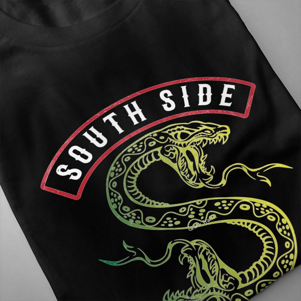 Retro Riverdale Southside Serpents Riverdale Homme Tee Shirt Man Crazy Custom For Male 100 Cotton Homme Tee Shirt in T Shirts from Men 39 s Clothing