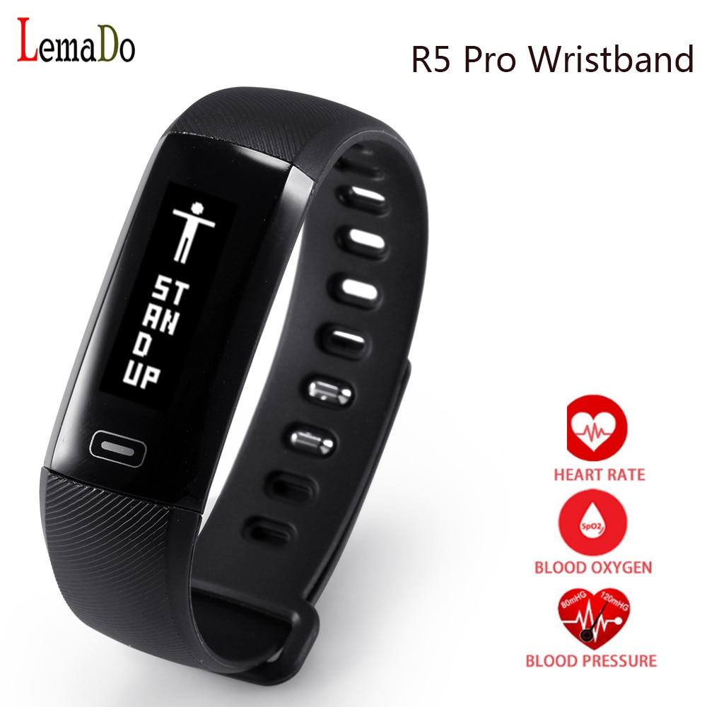 Original LEMADO R5 pro Smart WristBand Heart rate monitor Blood Pressure Sport Bracelet Watch For apple