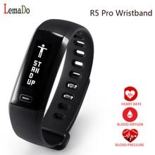 Оригинальный lemado R5 Pro смарт-браслет монитор сердечного ритма крови Давление спортивные часы браслет для Apple IOS телефона Android