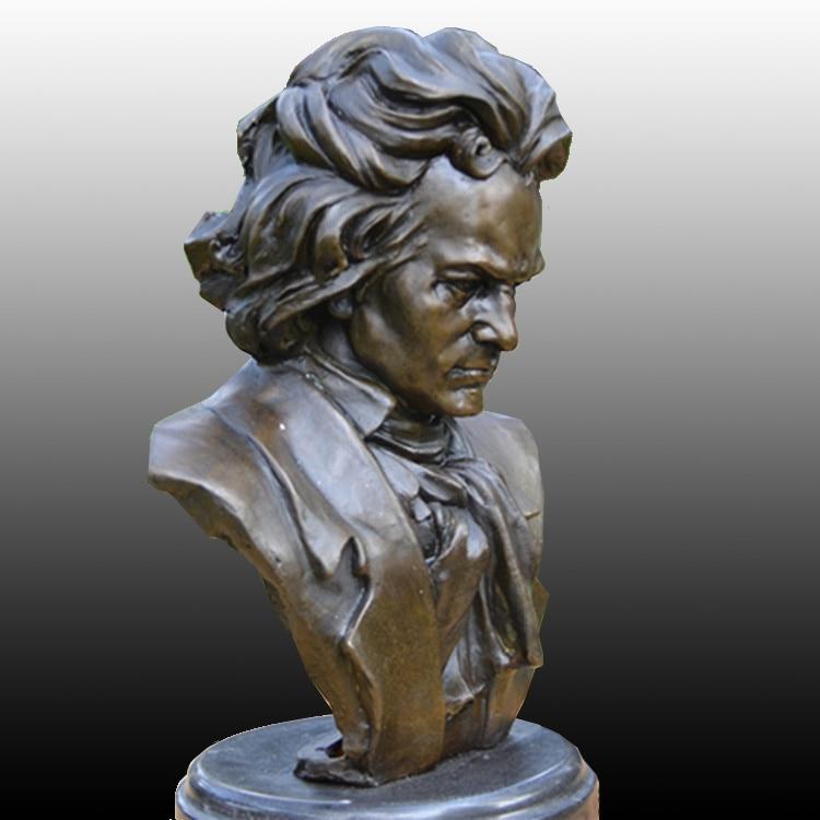 Beethoven busto BRASS como compositor de música pianista estudo - Decoração de casa - Foto 2