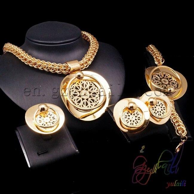Brazilian gold jewelry Indian plated jewelry set Turquoise jewelry