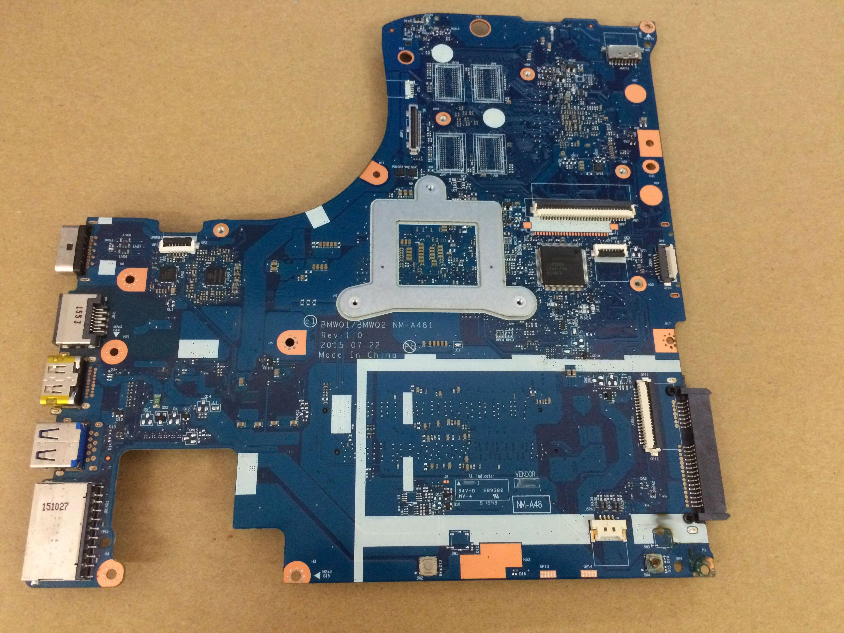 For Lenovo IdeaPad 300-15ISK Laptop motherboard 5B20K38221 BMWQ1 BMWQ2 NM-A481 mainboard I3 6100U cpu