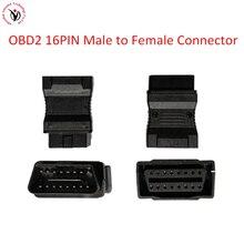 OBD2 16 Pin złącze męskie do żeńskiego Adapter diagnostyczne OBD II przejściówka Adapter złącze