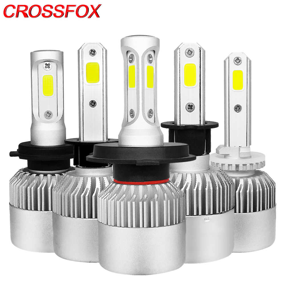 CROSSFOX Car Lights LED H7 H11 H1 H3 H13 9004 9007 9005 HB3 9006 HB4 9003 H4 HB2 LED Headlight Bulb 12V 6000K 8000LM Auto Lamp