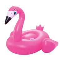 69inch Inflatable Adults Flamingo Rider With Cup Holder Handles Swimming Pool Float Ride On Mattress Beach Water Fun Toys Raft