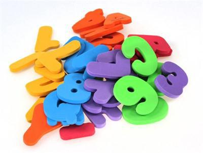 36pcsset children bath toy floating foam water toy bath letter nd numbers digital stickers
