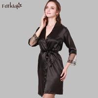Fdfklak Summer Hot Selling Sexy Women Silk Satin Short Night Robe Fashion Bath Robe Sexy Bathrobe