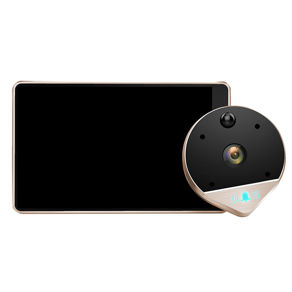 Image 2 - Visual Night Vision Remote Monitoring Peephole Electronic Video Anti theft WIFI Wireless Doorbell Intercom Smart Wide Angle-in Doorbell from Security & Protection