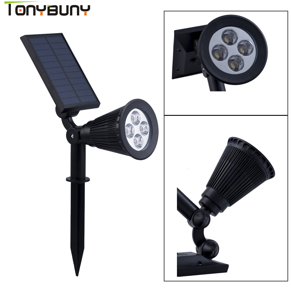 Adjustable LED Solar Light Outdoor 4 Leds Ground Light LED Garden Lawn Light Solar Powered Underground Lights White Lamp pc male sync to 3 5mm plug jack cable cord for studio camera flash strobe light page 3