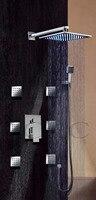 Bagno Chrome Doccia LED Miscelatore Rubinetto 8 Pollice Precipitazioni Vasca Da Bagno Shower Head Spa Massaggio Corpo Spray Jets-Spedizione Gratuita 006-8-2C