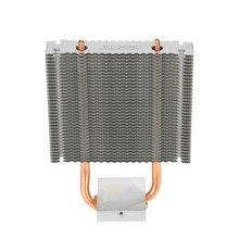 Disipador de calor de aluminio, Enfriador de placa base Northbridge, 2 tubos de calor, soporte Southbridge de 80mm, ventilador de refrigeración para escritorio
