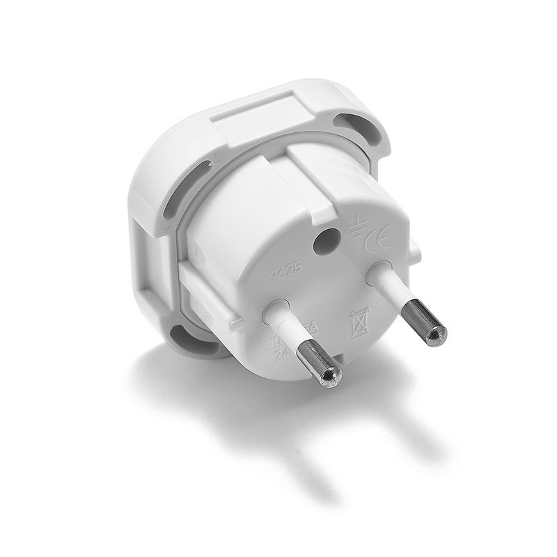 1000pcs Germany European EU Plug Adapter 2 Pin British UK To EU Euro German Travel Power Adapter Outlet AC Converter Sockets