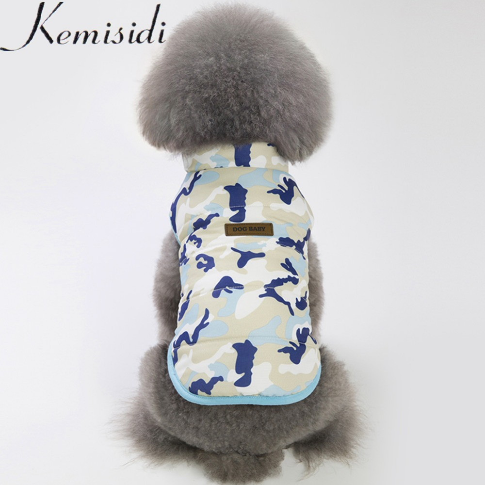 KEMISIDI Warm Dog Clothes For Small Dog Windproof Winter Pet Dog Coat Jacket Padded Camouflage Clothes Puppy Outfit Vest Yorkie thumbnail