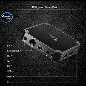 Image 3 - Wechip X96 Mini Astuto di Android 7.1 Tv BOX 2G 16G Set Top Box 1G 8G X96mini supporto 4K HD 2.4G Wireless WIFI Media Player