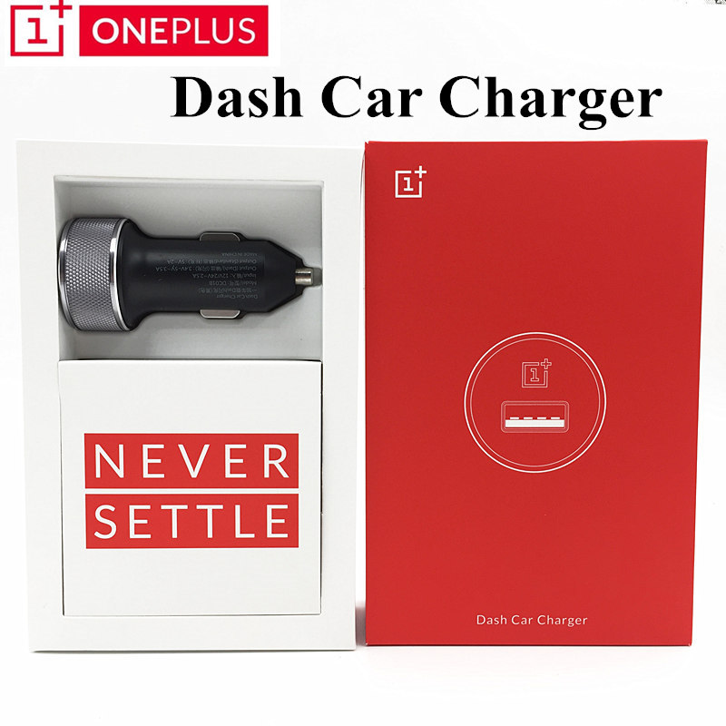 Original Oneplus Dash Car charger DC01B Model 3 4V 5V 3 5A Dash Charge Standard 5V