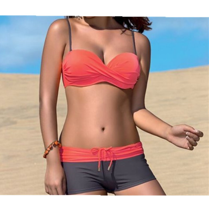 New <font><b>2018</b></font> Push Up <font><b>Bikinis</b></font> Women Swimsuit Female Swimwear <font><b>Bikini</b></font> Set <font><b>Sexy</b></font> Boxer Beach Swim Wear Summer Bathing Suits Biquini image