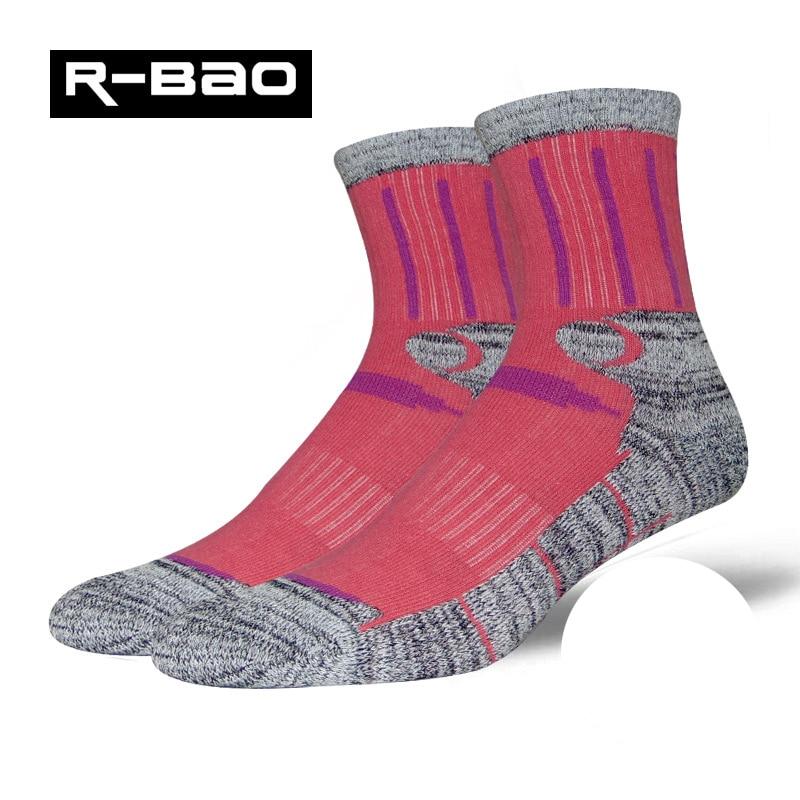 R-Bao 3Pairs / Lot Outdoor Hiking Socks Men Women Cotton Trekking Mountaineering Running Sports Professional Skiing Socks W04
