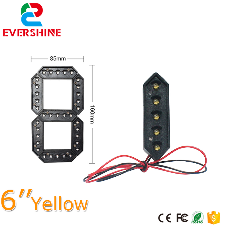 7 segment Yellow Color LED Number Module 6 inch Outdoor LED Gas Price Display Signs