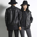 Hollow men's leather jacket new fashion trend cool male punk style locomotive jacket men women leather coat stage clothing SP19