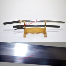 Clay Tempered Honsanmai blade japanese katana dragonfly tsuba full tang sword sharpened Real Yokote
