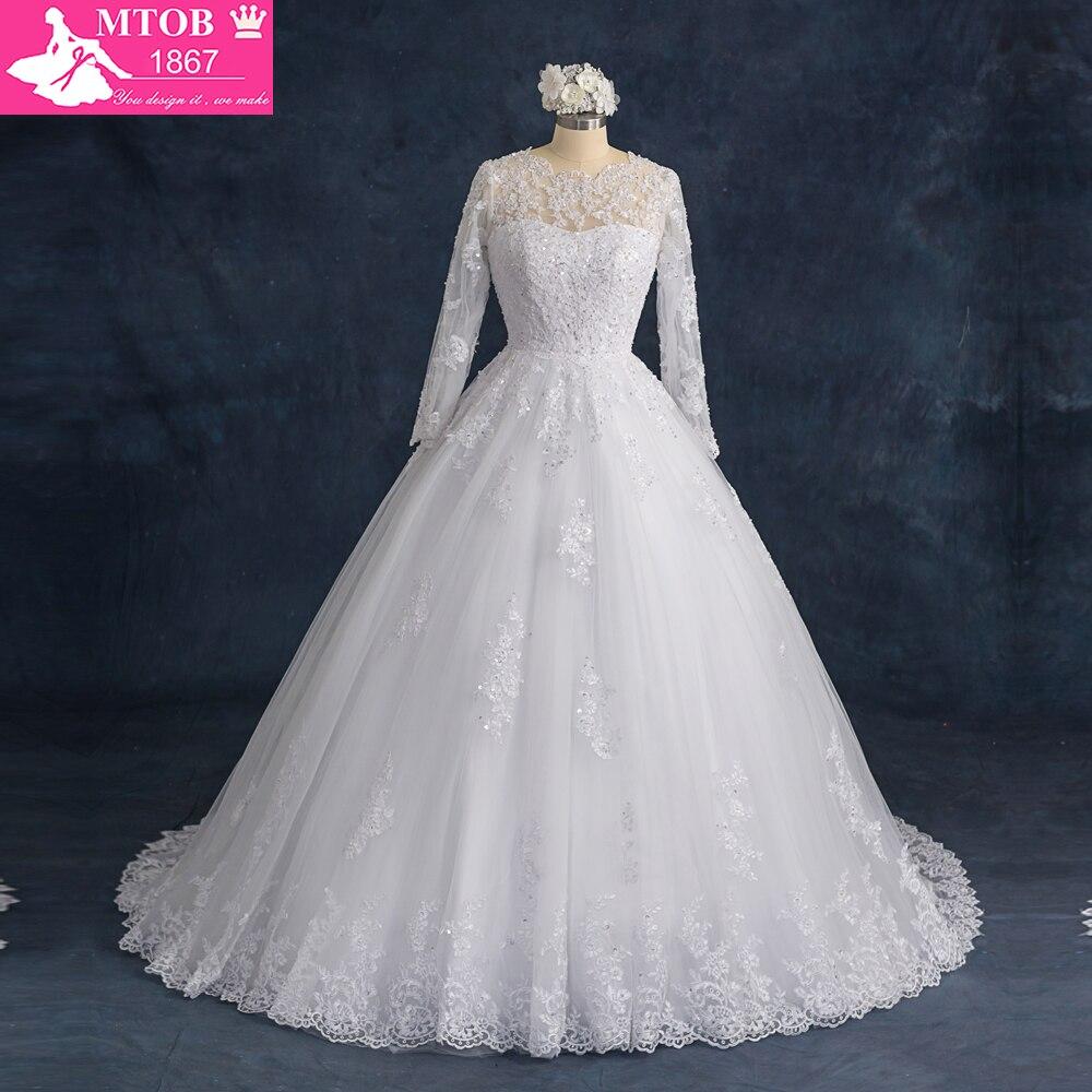 Robe De Mariage pits pulmakleitid pikkade varrukatega vaata läbi pulmakleit 2018 Kuum müük Sweetangel Vestido De Noiva MS40