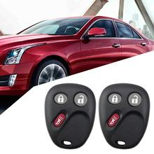2Pcs 3 Buttons Car Key Fob Case Shell for Buick Rainier Cadillac Chevrolet GMC