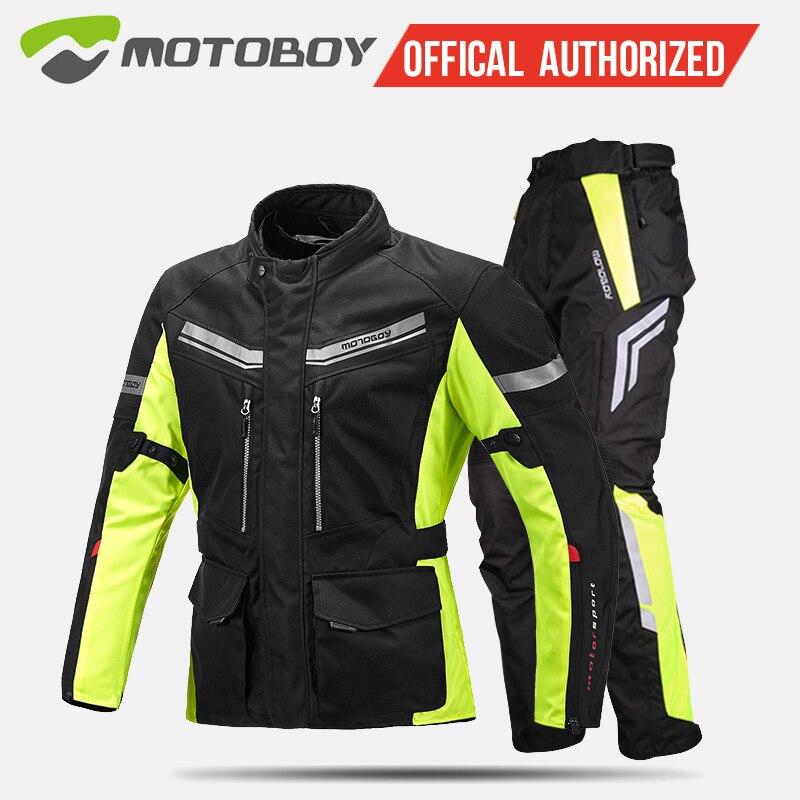 Motoboy moto costume motocross veste ensembles Oxford tissu veste chaude doublure imperméable à l'eau équipement de protection CE pad veste J13