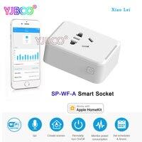 Original LTECH Smart Socket Basic Edition WiFi Cute Mini High Temperature Protection Input AC100-240V Max 2200W 10A XiaoLei Sma