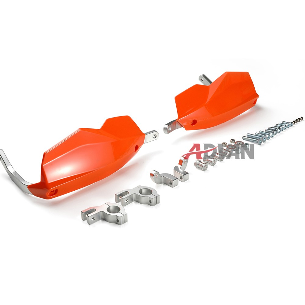 Orange Aluminium Handguards Brake Clutch Hand Guard For KTM 125 200 Duke 2011-2015 motorcycle front rider seat leather cover for ktm 125 200 390 duke