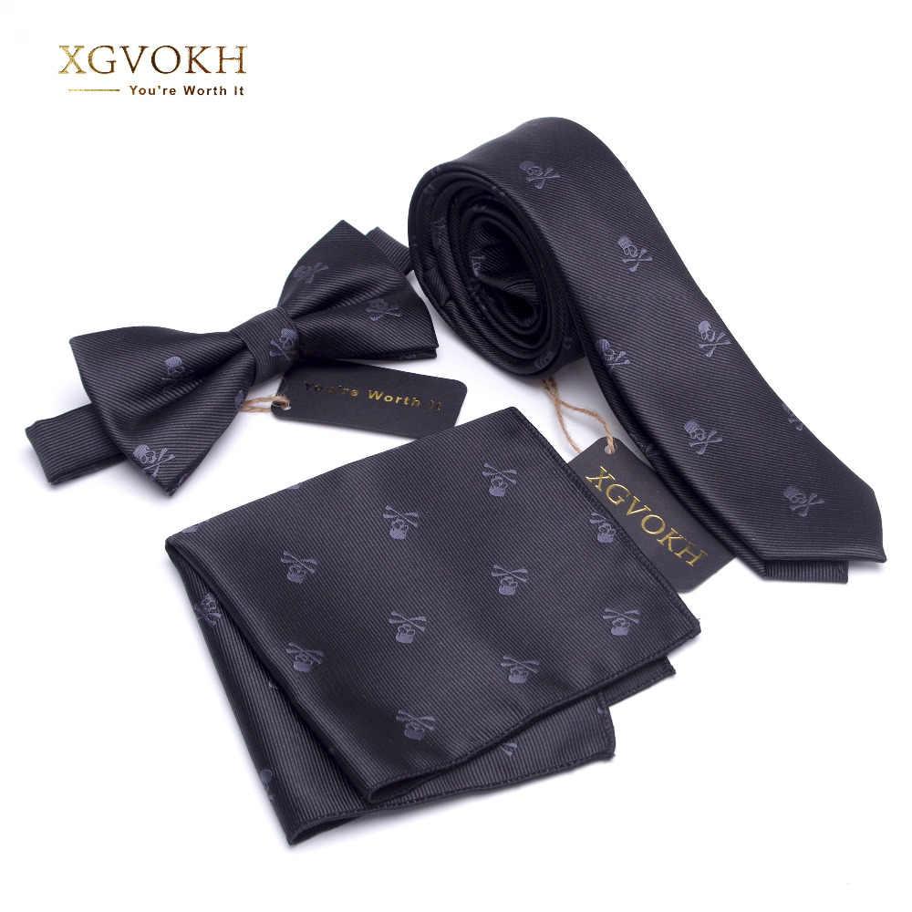 3 ADET boyun kravat Seti Erkek papyon ve cravat Papyon Ince Kravat Iskelet Erkek bağları erkekler için 1200 iğne Moda gravata elbise