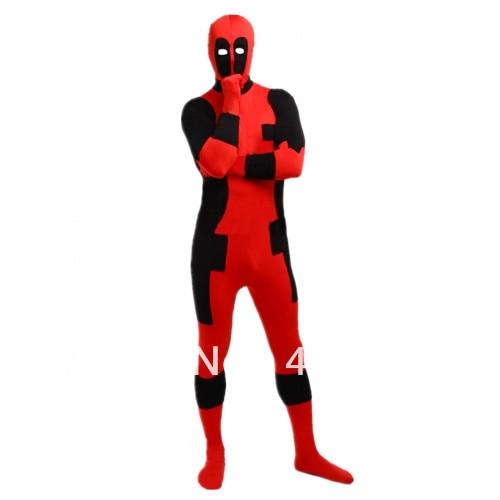 Deadpool kostiumai raudoni ir juodi deadpool kostiumai Helovinas - Karnavaliniai kostiumai - Nuotrauka 3