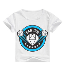 Fashion Diamond DAN TDM T-SHIRT Kids Youtuber Gaming Clothing Boys T Shirt Short Sleeve Children's Tops Girls Shirts 3-16Y dan t sehlberg mona