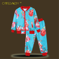 Full Promotion Spring Autumn Girls Cotton Clothing Set 8 9 10 11 12 Years Toddler Boutique