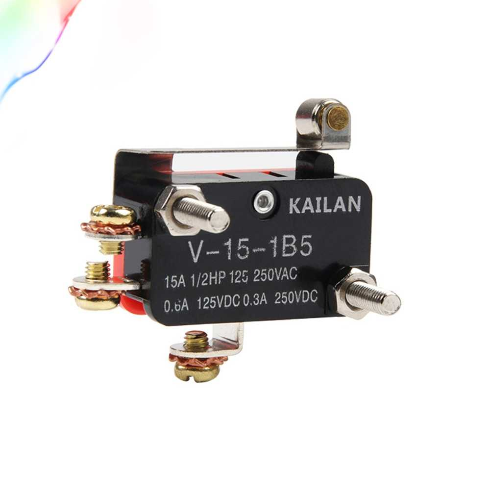 1Pcs V-15-1B5 touch switch Snap Roller Hinge Lever SPDT Momentary Micro Limit Switch 1NO1NC 10A250V