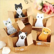 все цены на 2pcs/lot cute cat Sticky Notes Post It Memo Pad kawaii stationery School Supplies Planner Stickers Paper Bookmarks  онлайн