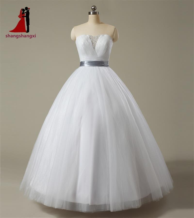 2017 Cheap Wedding Dresses For Bridal Sweetheart Beaded Corset Tulle Ball Gown Plus Size Dress Vestido De Noiva Robe De Mariage