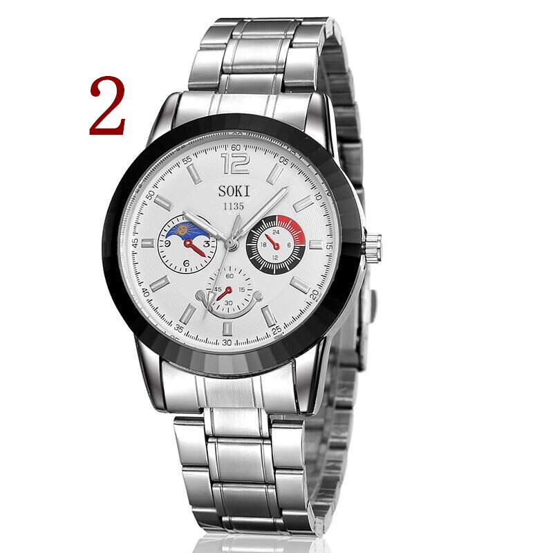 In 2018, new men New Fashion Watch Stainless Steel Unisex Concise Casual Luxury Business Wristwatch2 2018 new fashion stainless steel belt simple leisure luxury business watch