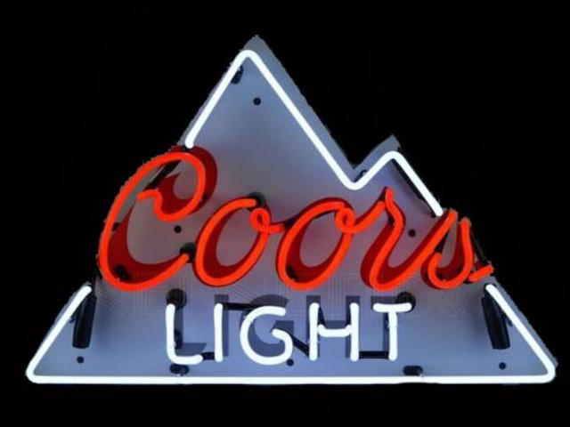 Custom Coors Light Glass Neon Light Sign Beer Bar