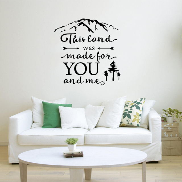 stizzy wall decal nature travel vinyl wall stickers quote this land