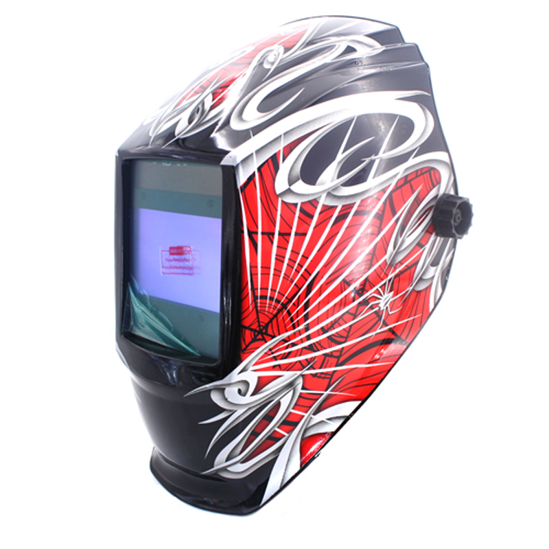 Spider man Big view eara 4 arc sensor Solar auto darkening filter TIG MIG ARC welding mask/helmet/welder cap/eyes mask /device