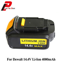 14.4V 4.0Ah Li Ion Power Tool Replacement Battery for Dewalt :DCB140 DCB141 XJ