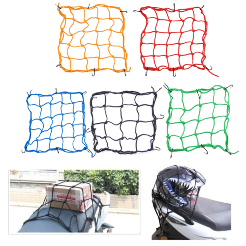 Мотоцикл велосипед шлем держатель 6 Крючки удерживайте 40x40 см сеточку сумка Чемодан грузовой сети сетки авто стайлинга автомобилей