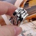Hechos a mano 925 del anillo de hombre anillo tailandés esterlina anillo Silver Dragon Spinning anillo de buena suerte de anillo