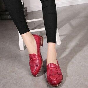 Image 5 - נשים נעליים שטוחות עור אמיתי בוהן עגול דירות פלטפורמת נעלי גבירותיי קיץ אישה גלדיאטור שטוח גומי sole נעלי 2020