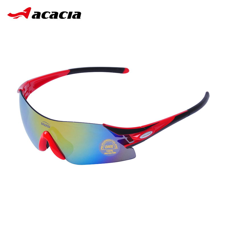 ACACIA Polarized Cycling Bike Sun Glasses Sport Bicycle Sunglasses Outdoor Eyewear Glasses Goggles 5 Lens Bicycle Accessory 9945