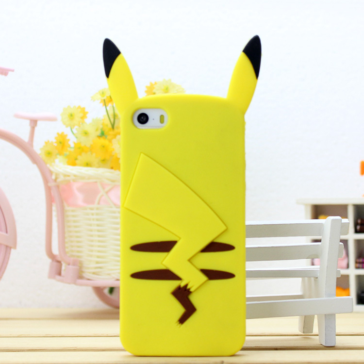 Cute Cartoon Pikachuu Case For Coque iPhone 6 Case Lovely Silicone Pokemons Funda For Capa Para iPhone 6 4 5 6s 7 7plus Capinha