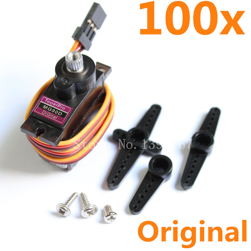 Wholesale 100pcs tower pro mg90d rc helicopter plane for 100 kg servo motor