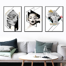 Posters and Prints Nodic Modern Big Size Women Oil Painting Canvas Wall Pictures for Living Room Home Decoration